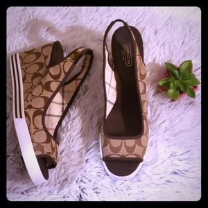 New!! Coach canvas sidney heels